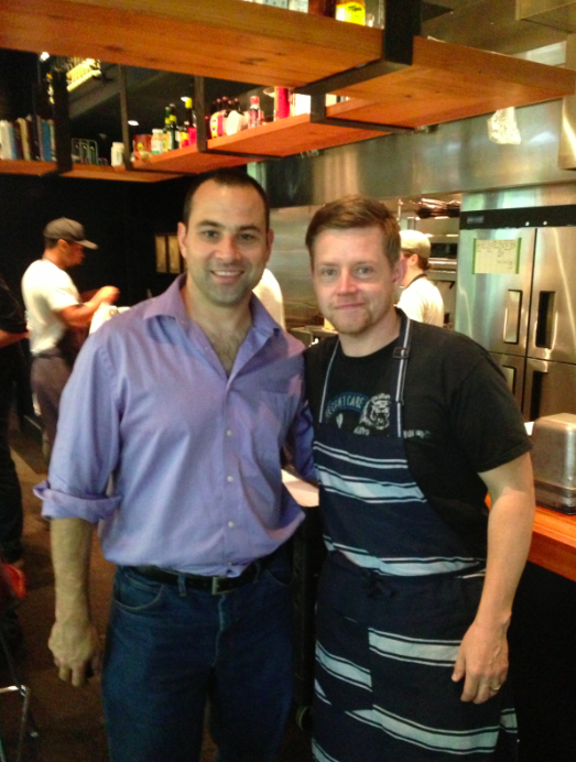 Chef Richard Blais and I at The Spence